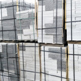 芝麻白荔枝面铺路板 荔枝面麻石铺砌板
