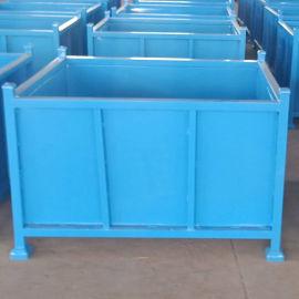 固定铁箱 零部件包装箱 金属周转箱 围栏托盘箱