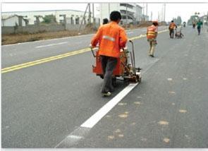 停車場劃線-車位劃線-馬路劃線-停車場熱熔車位線-路易通施工隊