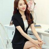 职业装女装裙时尚韩版修身西服套裙女士正装工作服酒店服夏季套装