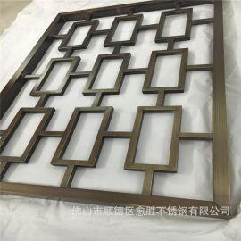 南京不锈钢屏风制品定制  管材异型焊接不锈钢花格隔断
