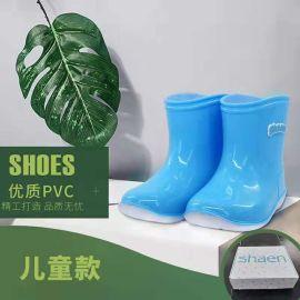 儿童雨鞋雨靴女童男童防滑水鞋**雨靴小孩时尚雨鞋批发定制