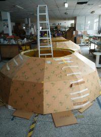 HXY-C2合肥万达主题公园 装饰球 2.8米大球 灯罩 透光球