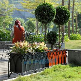 户外大型铁艺花箱广场街道长方形花架公园景观花槽批发