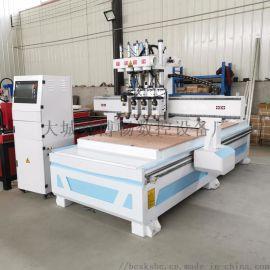 橱柜门板雕刻机 定制家具开料机 自动换刀下料机