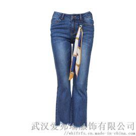服装厂里拿货如滨春夏款水洗牛仔裤品牌女装货源
