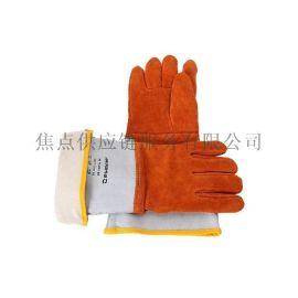 霍尼韦尔防金属飞溅颗粒鹿皮焊接隔热手套 土黄色2012847-09