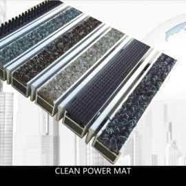 商用铝合金防滑除尘地垫  进口吸水耐磨毯面