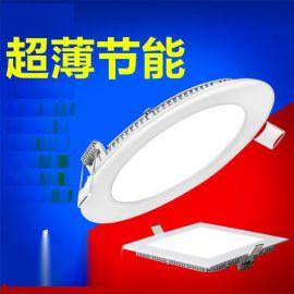 3W热销嵌入式吸顶灯led平板灯感应面板灯室内篮球场灯6w