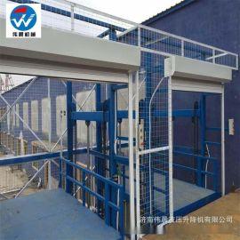 升降货梯 导轨式液压升降货梯 厂房仓库液压升降平台