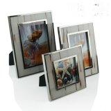 欧式现代不锈钢金属边框6寸7寸白色牛骨相框摆台创意样板间摆件