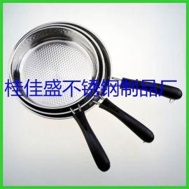 不锈钢厚煎锅单层加厚特厚不粘平底煎锅套装煎锅电磁燃气通用