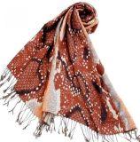 10年新款提花羊毛真丝围巾披肩(L02)
