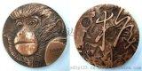 厂家加工直销十二生肖牛年大铜章 浮雕牛年黄铜摆件制作