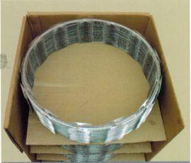 双螺旋交叉型刀片刺绳,主要用于高铁防护,铁路