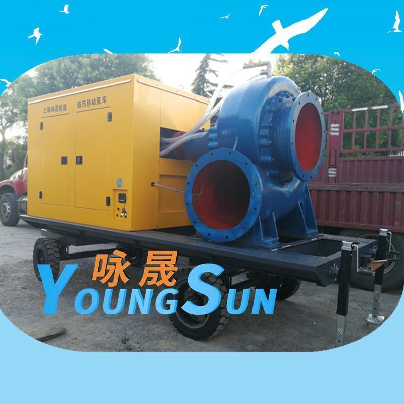 3000立方大流量柴油机移动泵站    防汛河道清淤水泵机组