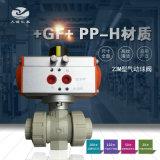 +GF+ 23M型PPH气动球阀 工业阀门
