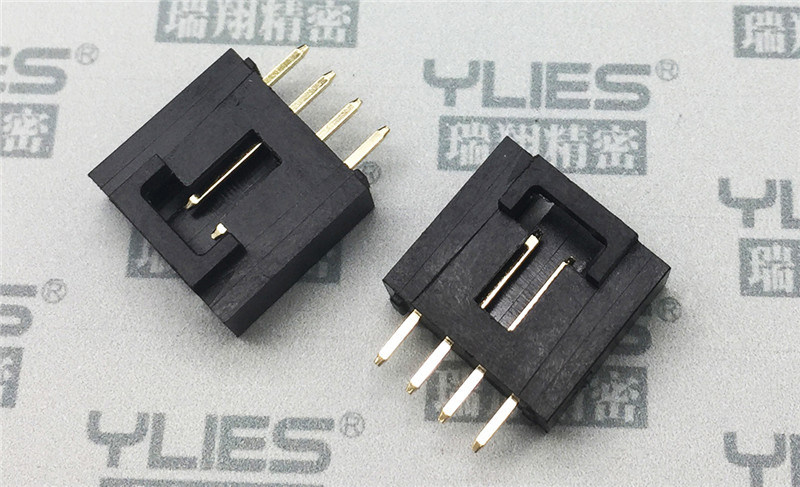 PCB連接器2.54 單排插針180度連接器