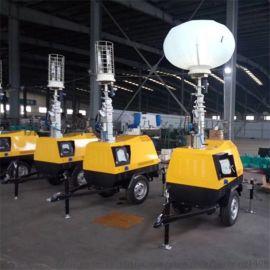 移动式高杆照明灯拖挂式照明设备的简单操作