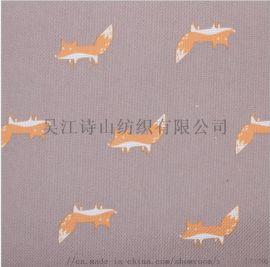 苏州诗山平纹印花布PVC压延印花布箱包手袋牛津布