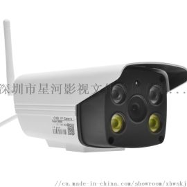 无线网络监控摄像头 双向对讲1080P云储存智能监控摄像机