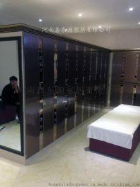 河南洗浴中心更衣柜厂家木质浴池更衣柜批发