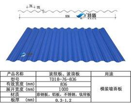 彩钢铝镁锰横装波纹板YX18-76-836