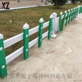 竹子草坪护栏、组装式草坪护栏、公园花池塑钢围栏