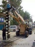 公路护栏打桩机     临颍兴农打桩机