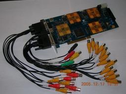 带矩阵输出的音视频硬压缩卡 (DVR2000-H4RT-O)