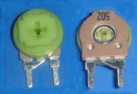 厂家直销可调电位器502微调单圈电阻