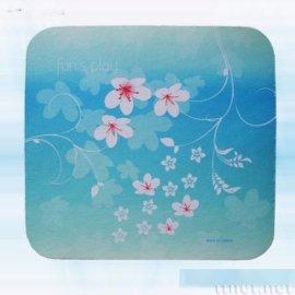 蓝绿油桐花滑鼠垫(AW-022)