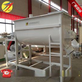 卧式单轴饲料搅拌机 一批料混合3-5分钟的猪饲料搅拌机 拌料机械