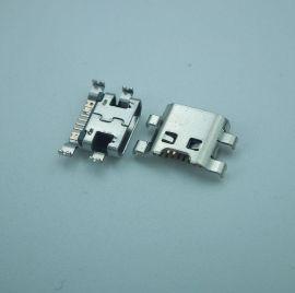 厂家直销MicroUSB母座适用三星尾插手机充电7pin母座连接器
