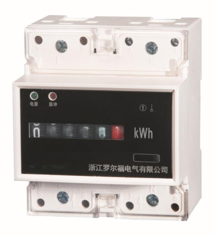 4P单相导轨式电能表10-40A30-100A15-60A5-20A轨道卡规式安装特惠