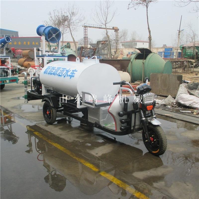 喷雾降尘小型雾炮车,48伏新能源洒水雾炮车