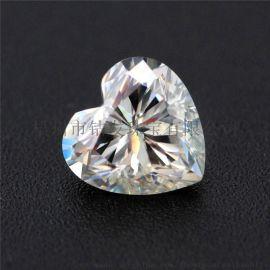 VVS净度合成碳化硅莫桑石  仿真钻石镶嵌首饰