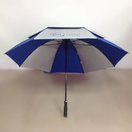 深圳专业生产30寸自动全纤维双层高尔夫长伞