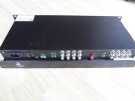 前升  16路视频一路数据光端机(QS-R16V16A-20KM)