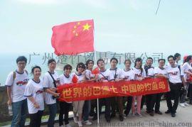 广州厂家直销 大量短袖T恤团队服定制