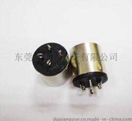 大DIN 端子连接器3PIN母头生产厂家提供全铜镀镍连接器