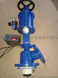 振泰搪玻璃气动测温放料阀气动带手动测温放料阀
