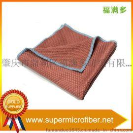 超细纤维清洁布 鱼鳞布  厨房清洁布 抹布 桔红色 不掉毛   去污  厂家直销