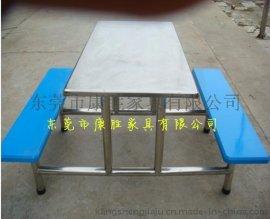 KS-  不锈钢食堂餐桌椅-8人圆凳不锈钢食堂餐桌椅