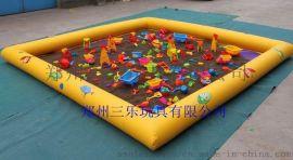 三乐儿童室内沙池 充气沙池玩具 儿童室内沙池价格