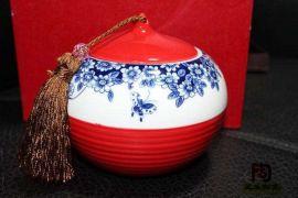 1000毫升青花瓷膏方罐,中药罐,景德镇陶瓷罐