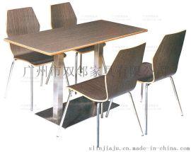 广州提供快餐厅桌椅,弯曲木餐桌椅