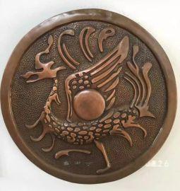 抽象龙铜浮雕,锻铜抽象龙浮雕