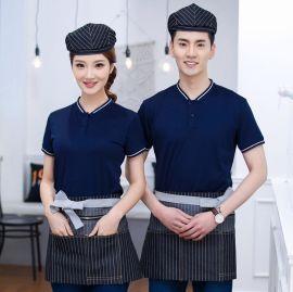 奶茶店餐厅服务员工服火锅网咖快餐汉堡鸡排工作制服T恤短袖上衣