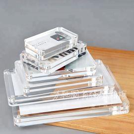 低价批发圆角相框亚克力立式磁性相架环保有机玻璃双面相框定制